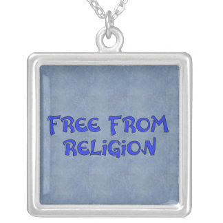 Free From Religion Square Pendant Necklace