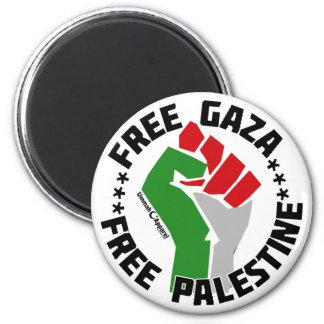 free gaza free palestine 2 inch round magnet