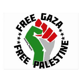 free gaza free palestine postcard