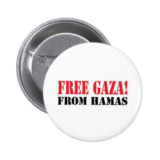 Free GAZA From HAMAS Pinback Button
