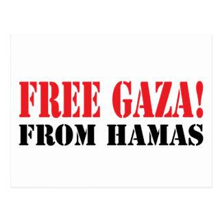 Free GAZA From HAMAS Postcard