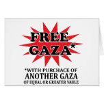 FREE GAZA - Funny remake Greeting Cards