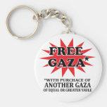 FREE GAZA - Funny remake Key Chain