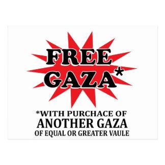 FREE GAZA - Funny remake Postcard