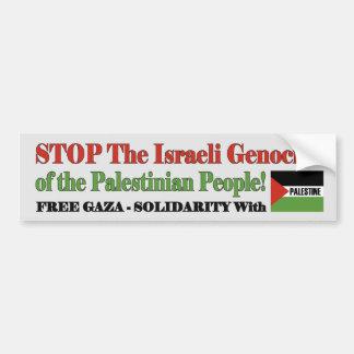 Free Gaza & Palestine Car Bumper Sticker