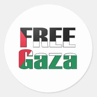 Free Gaza Classic Round Sticker