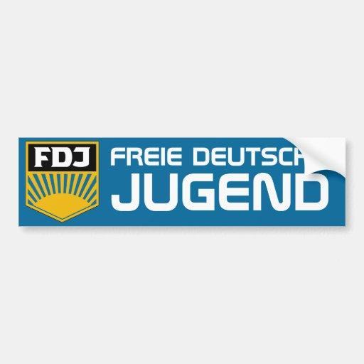 Free German Youth (FDJ) Bumper sticker Car Bumper Sticker