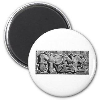 Free Graffiti 2 Inch Round Magnet