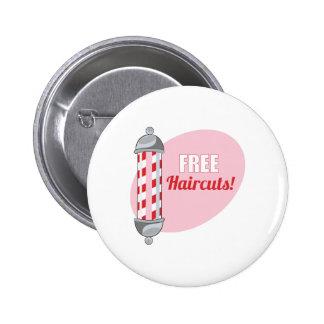 Free Haircuts Pinback Button
