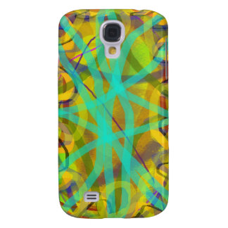 free hand abstract computer graphic design galaxy s4 case