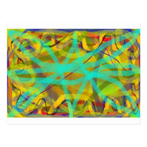 free hand abstract computer graphic design postcard