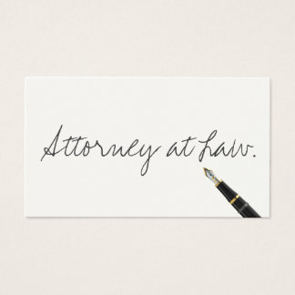 Free Handwriting Script Attorney Business Card