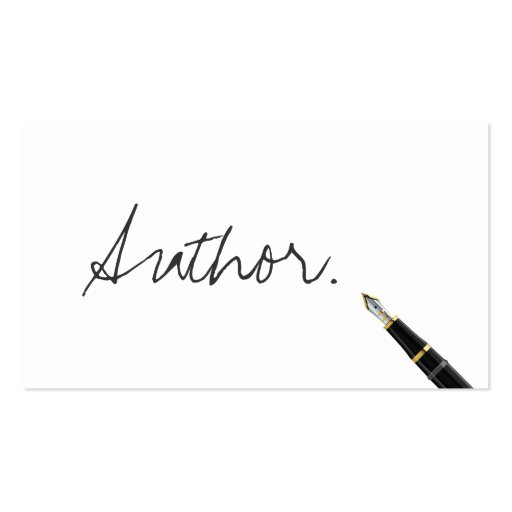 Free Handwriting Script Author Business Card