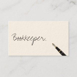 Bookkeeping business cards zazzle free handwriting script bookkeeper business card colourmoves