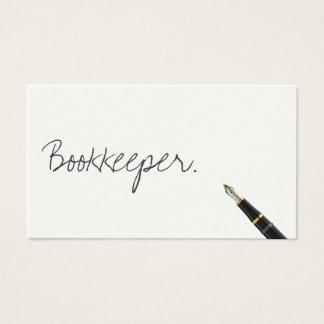 Free Handwriting Script Bookkeeper Business Card