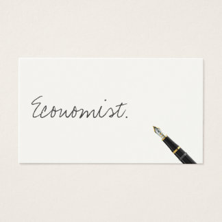 Free Handwriting Script Economist Business Card