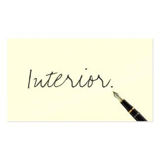 Free Handwriting Script Interiors Business Card