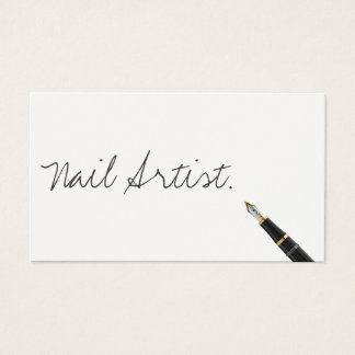 Free Handwriting Script Nail Art Business Card