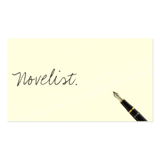 Free Handwriting Script Novelist Business Card