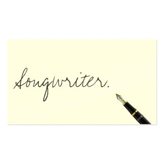 Free Handwriting Script Songwriter Business Card
