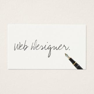 Free Handwriting Script Web Design Business Card