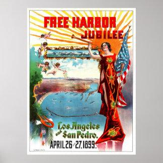 Free Harbor Jubilee 1899 Poster