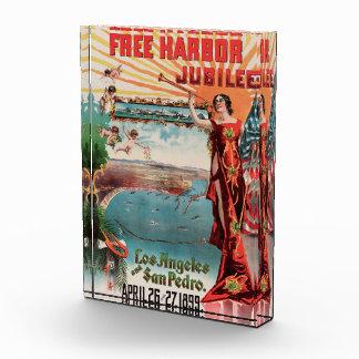 Free Harbor Jubilee, Los Angeles and San Pedro. Acrylic Award