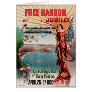 Free Harbor Jubilee, Los Angeles and San Pedro. Card