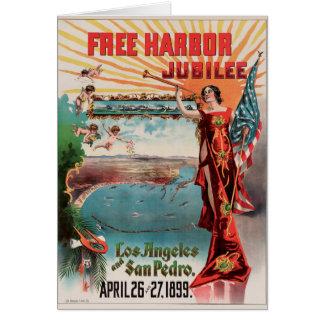 Free Harbor Jubilee, Los Angeles and San Pedro. Card