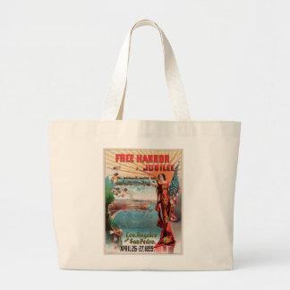 Free Harbor Jubilee, Los Angeles and San Pedro. Large Tote Bag