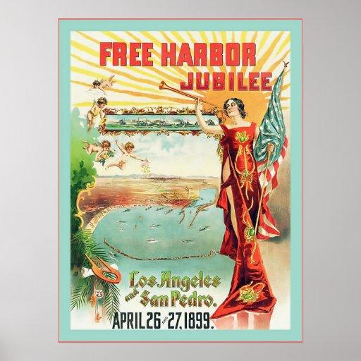 Free Harbor Jubilee ~ Vintage Advertising Poster