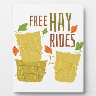 Free Hay Rides Display Plaque