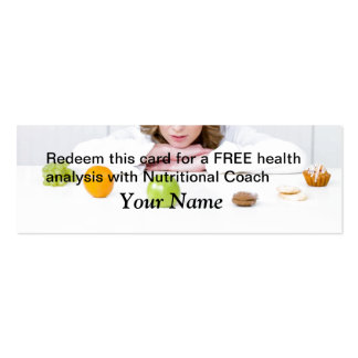 FREE Health Analysis Double-Sided Mini Business Cards (Pack Of 20)