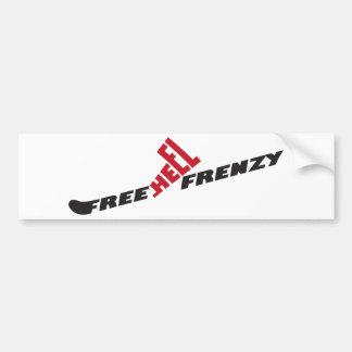 Free Heel Frenzy Sticker Car Bumper Sticker