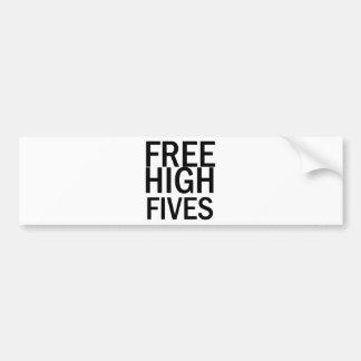 Free High Fives Bumper Sticker