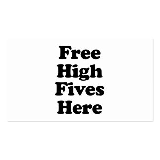 Free High Fives Here Double-Sided Standard Business Cards (Pack Of 100)