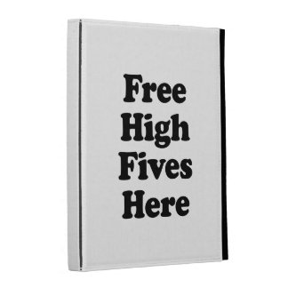 Free High Fives Here iPad Case