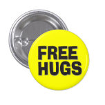 Free Hugs 1 Inch Round Button