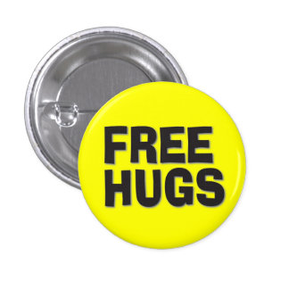Free Hugs 1 Inch Round Button