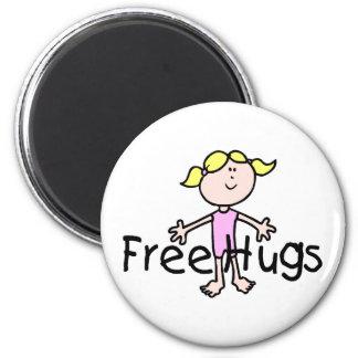 Free Hugs 2 Inch Round Magnet