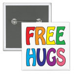 Free Hugs 2 Inch Square Button