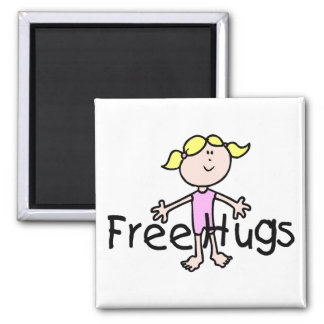 Free Hugs 2 Inch Square Magnet