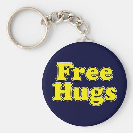 Free Hugs Basic Round Button Keychain