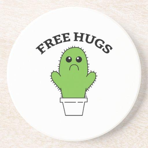 Free Hugs Beverage Coaster