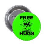 """Free Hugs"" Bill Plympton Dog button green"