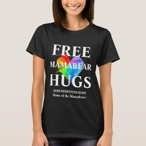 Free Hugs Black T Shirt