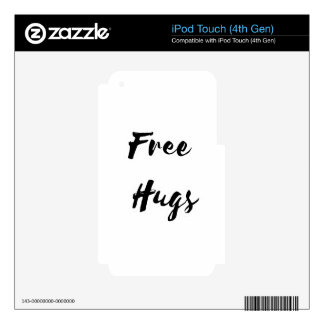 Free Hugs Black Text Decals For iPod Touch 4G