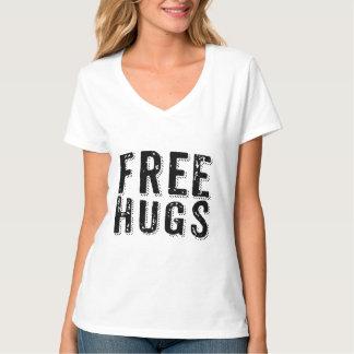 Free Hugs Black Text Grungy College Font T-Shirt