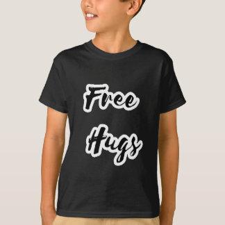 Free Hugs Black Text T-Shirt