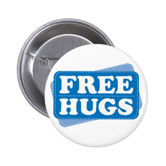 Free Hugs - Blue Pinback Button